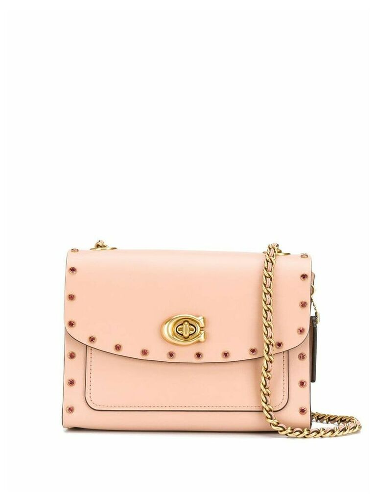 Coach crystal detailed cross-body bag - Neutrals