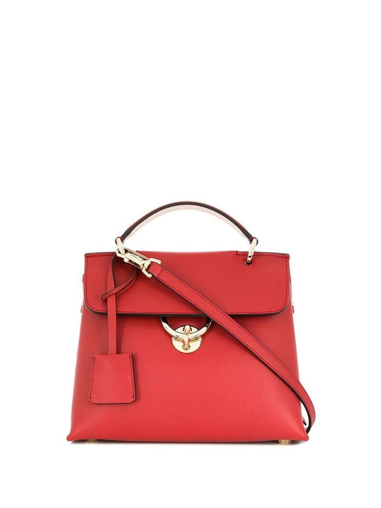 Salvatore Ferragamo colour block tote bag - Red
