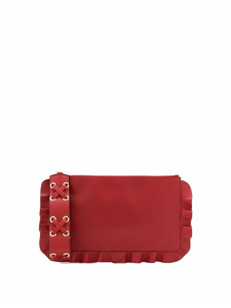 Red Valentino RED(V) Rock Ruffles clutch