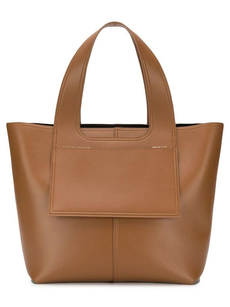 Victoria Beckham Apron tote bag - Brown