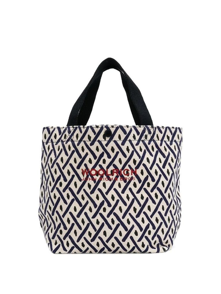 Woolrich patterned tote - Neutrals
