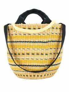 Muun motif round tote bag - Yellow