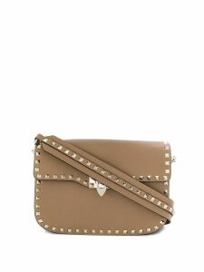 Valentino Valentino Garavani Rockstud shoulder bag - Brown