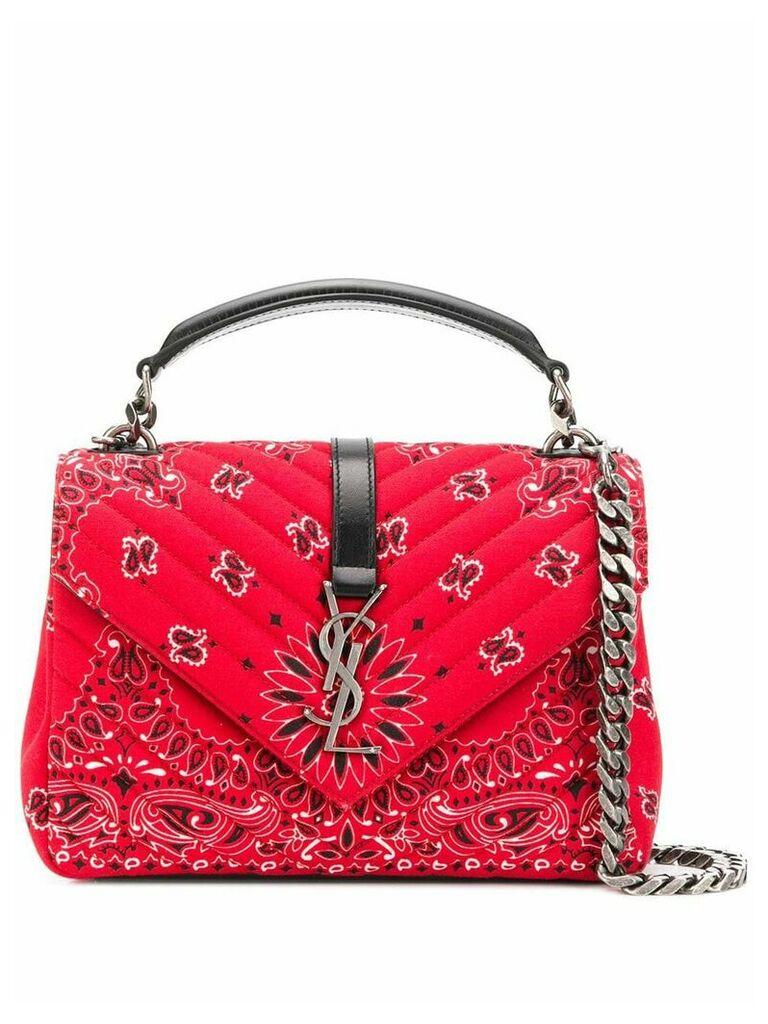 Saint Laurent bandana fabric shoulder bag - Red