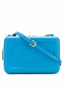 Thom Browne whale-embossed box bag - Blue