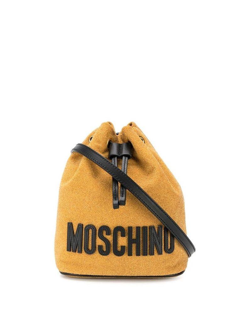 Moschino logo bucket bag - Gold