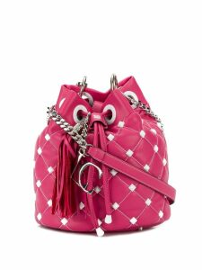 La Carrie studded bucket bag - Pink
