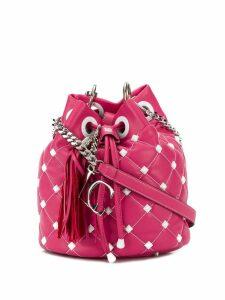 La Carrie studded bucket bag - Pink