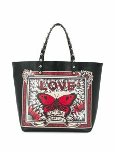 Red Valentino Stay Wild printed tote - Black