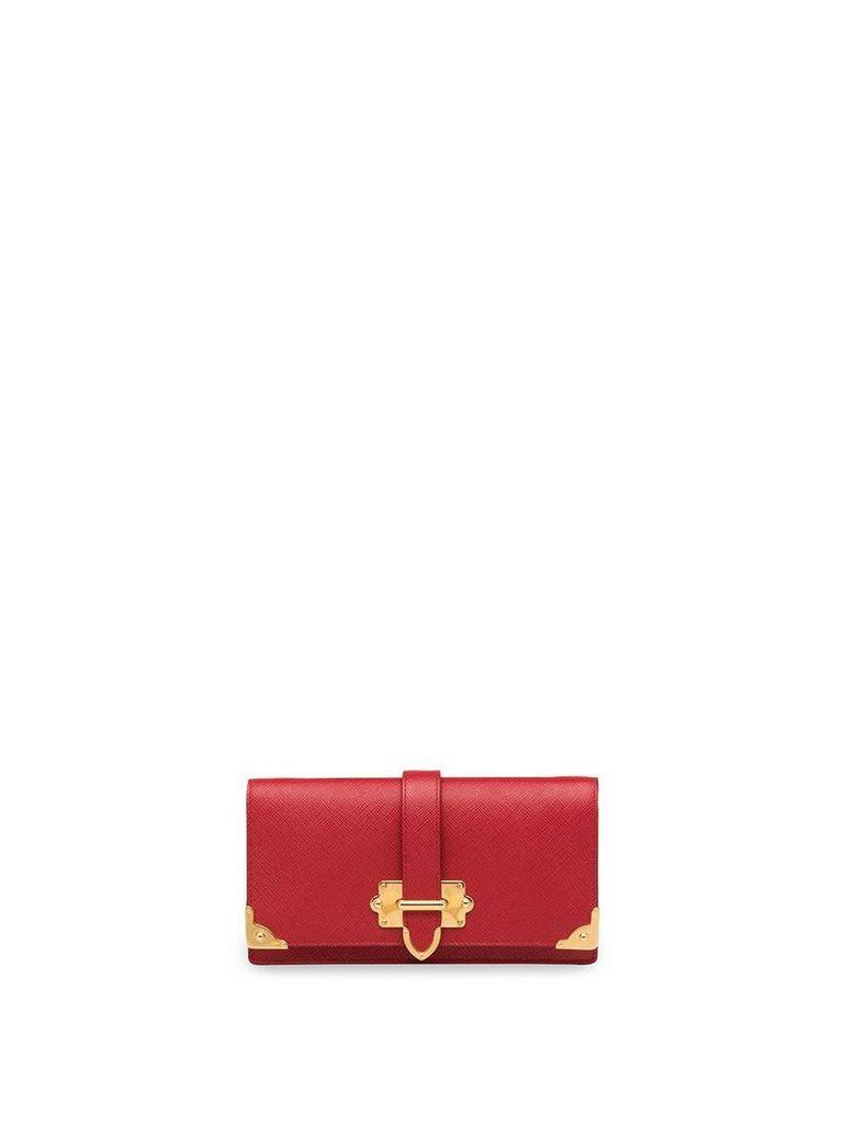 Prada Cahier Saffiano mini cross-body bag - Red