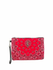 Saint Laurent quilted bandana clutch - Red