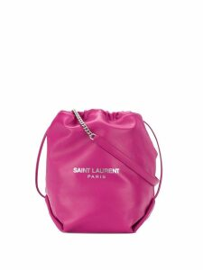 Saint Laurent drawstring bucket shoulder bag - Pink