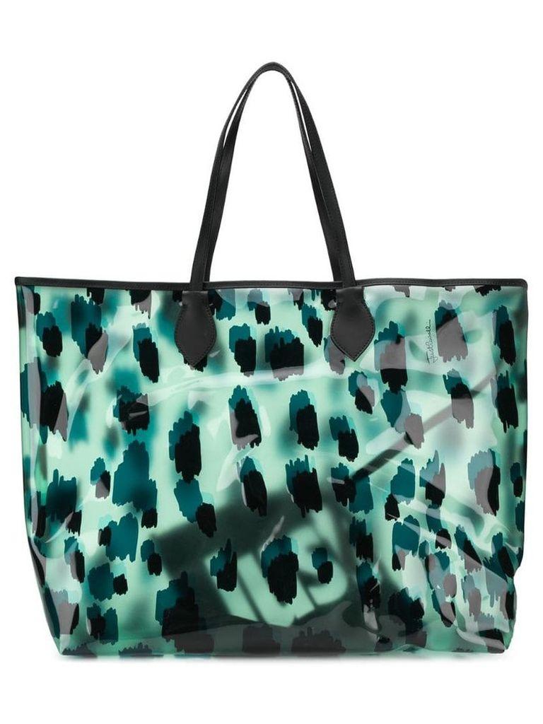 Just Cavalli leopard print tote - Green