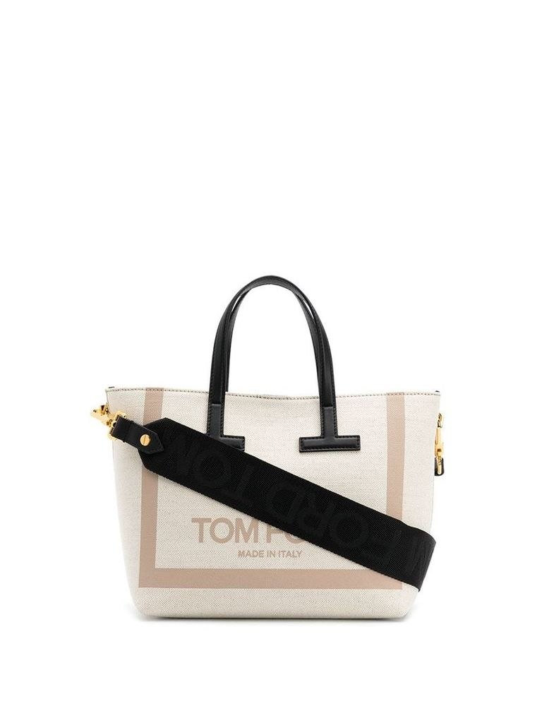 Tom Ford logo tote bag - Neutrals