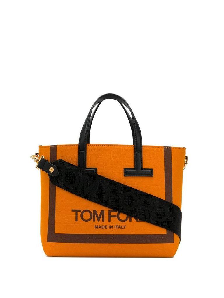 Tom Ford logo tote bag - Orange