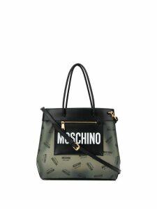 Moschino medium logo shopper bag - Black