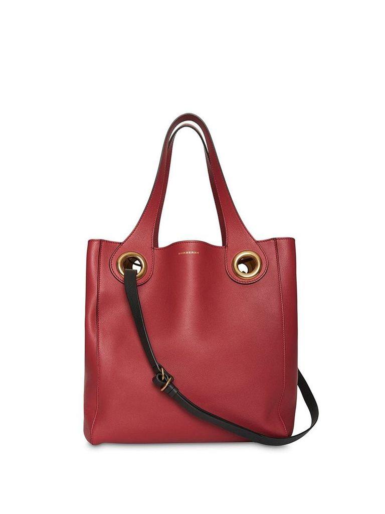 Burberry The Medium grommet tote - Red