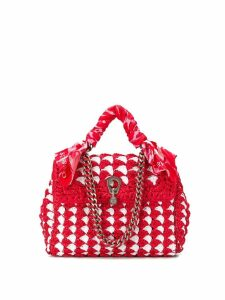 Ermanno Scervino woven style tote bag - Red