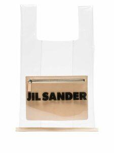 Jil Sander transparent logo market bag - Neutrals