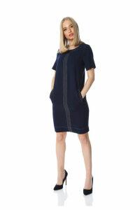 Top Stitch Shift Dress