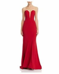 Mac Duggal Strapless Bustier Gown