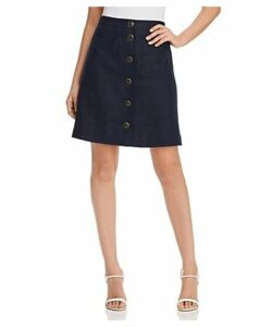 Tory Burch Button-Front Linen Skirt