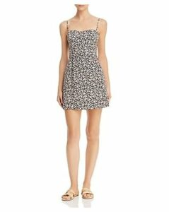 French Connection Sweetheart Whisper Botanical-Print Mini Dress