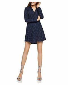 BCBGeneration Long Sleeve Dot Shirt Dress