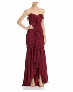 Jill Jill Stuart Ruched Strapless Gown