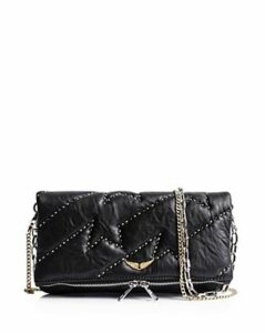 Zadig & Voltaire Rocky Zv Studded Leather Clutch