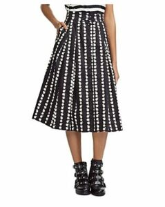 Maje Japhanie Pleated Daisy Print Skirt