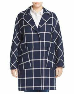 Marina Rinaldi Targa Windowpane Check Coat