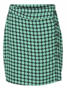 Womens **Vero Moda Green And Navy Spotted Midi Skirt- Multi Colour, Multi Colour