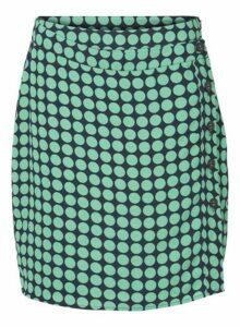 Womens **Vero Moda Green And Navy Spotted Midi Skirt- Multi Colour, Multi Colour