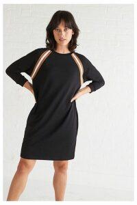 Womens Oliver Bonas Black Ribbon Tape Dress -  Black