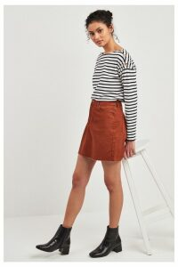 Womens F&F Orange Toffee Denim Skirt -  Orange