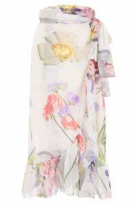 Ganni Floral-printed Wrap Dress