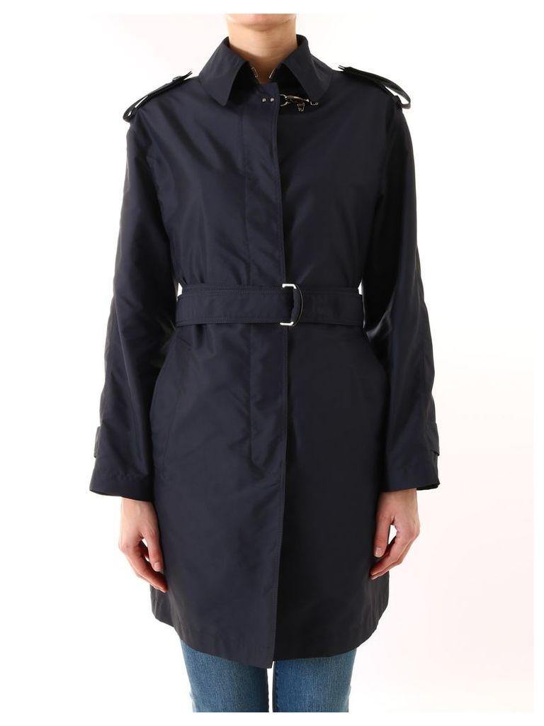 Fay Trench Coat Blue