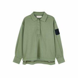 Tory Burch Army Green Twill Shirt