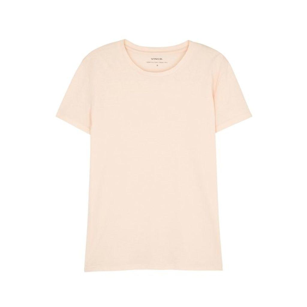 Vince Blush Slubbed Pima Cotton T-shirt
