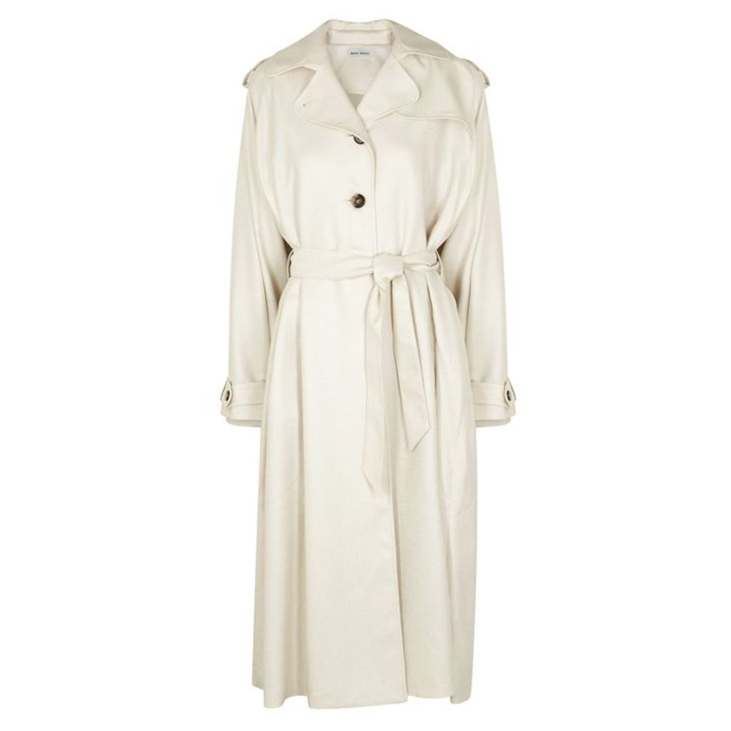 Beau Souci Parma Ivory Trench Coat