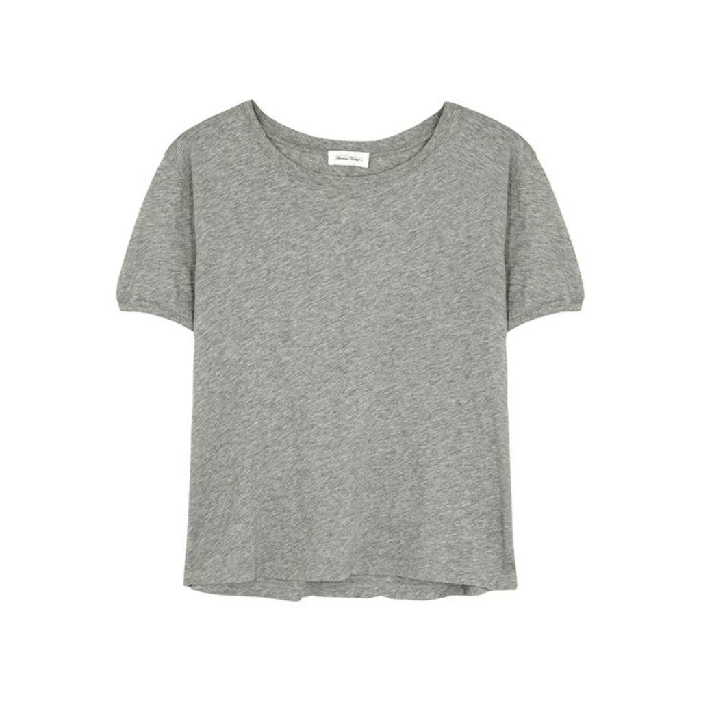 American Vintage Chipiecat Grey Cotton T-shirt
