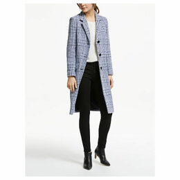 Helene For Denim Wardrobe College Check Coat, Blue