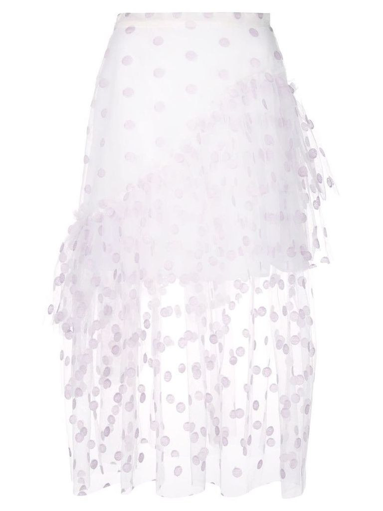 Jill Stuart frill layered skirt - White