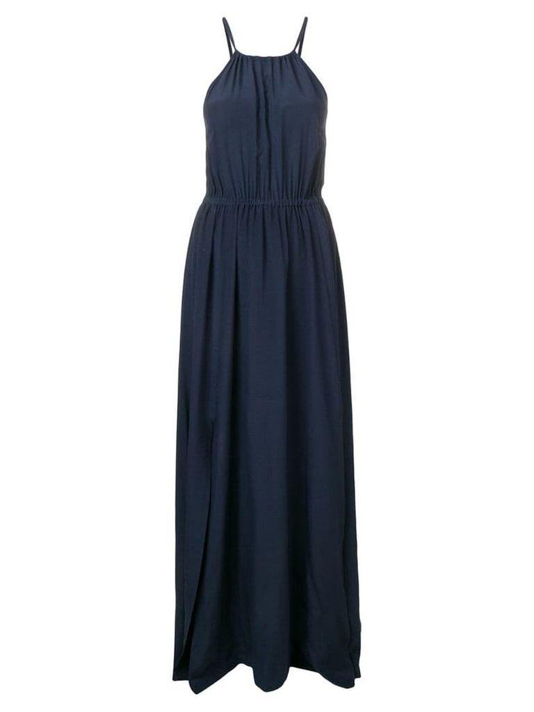 Semicouture side slit dress - Blue