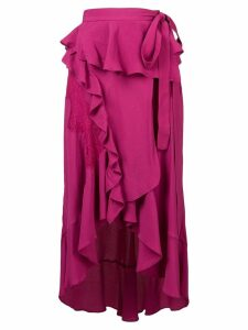 Iro ruffle trim side tie skirt - Pink