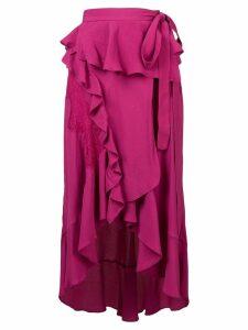 IRO ruffle trim side tie skirt - Pink