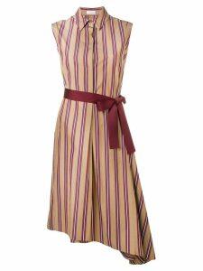Brunello Cucinelli striped shirt dress - Brown