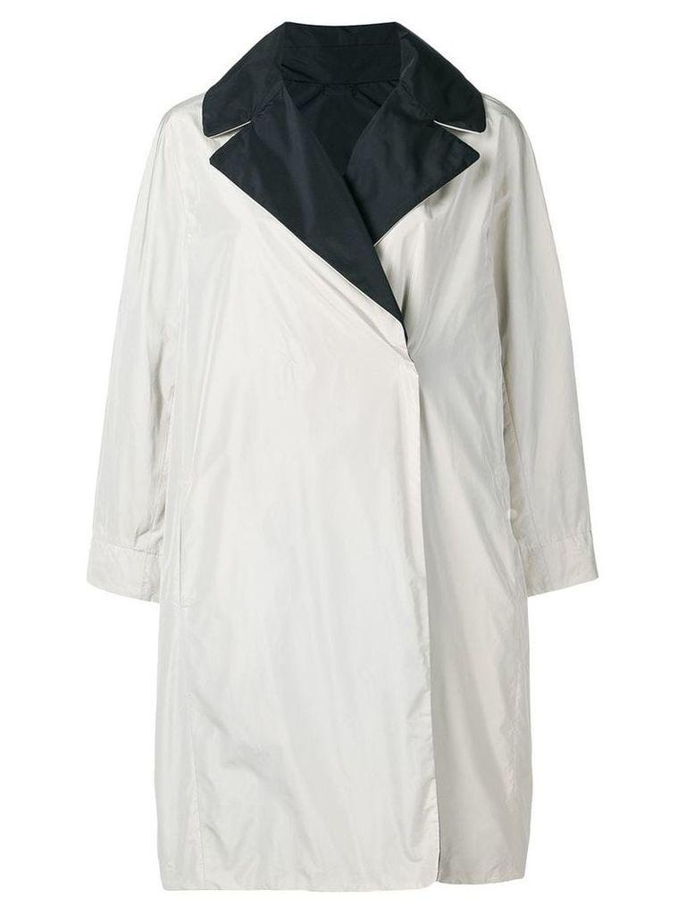 Max Mara wide lapelled raincoat - Neutrals