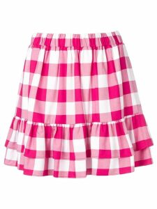 Love Moschino check layered skirt - Pink
